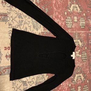 Super sexy cut-out long sleeve shirt